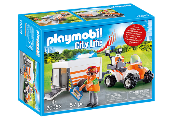 Playmobil City Life Rescue Quad with Trailer