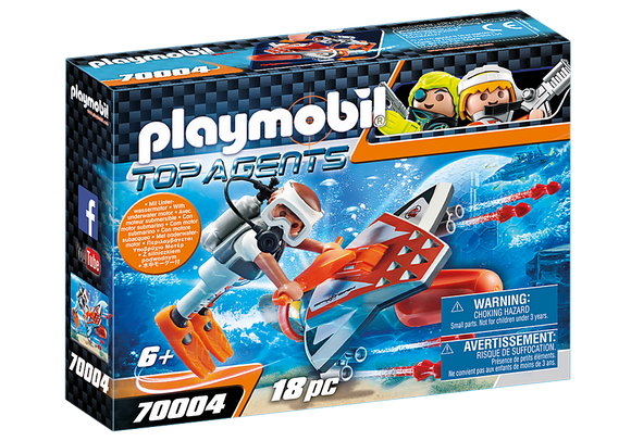 Playmobil Top Agents SPY TEAM Underwater Wing