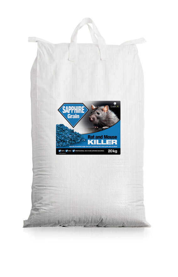 Lodi Sapphire Rat Bait Grain Mix of Whole & Cut Wheat 20kg