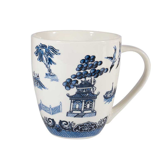Queens by Churchill Blue Willow White Crush Mug