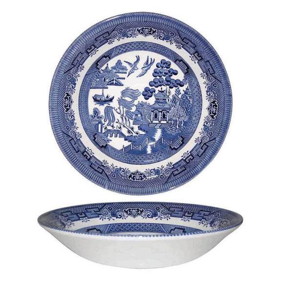 Queens by Churchill Blue Willow Coupe Bowl
