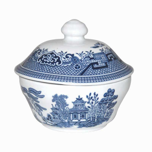 Queens by Churchill Blue Willow Covered Sugar Bowl