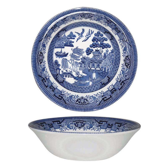 Queens by Churchill Blue Willow Oatmeal Bowl