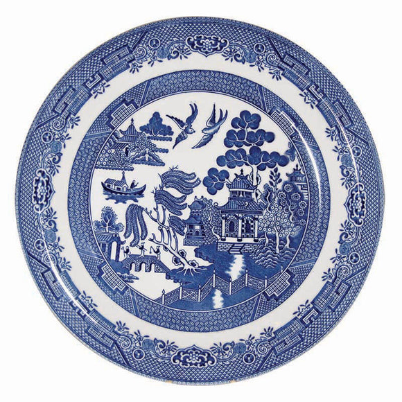 Queens by Churchill Blue Willow Dinner Plate