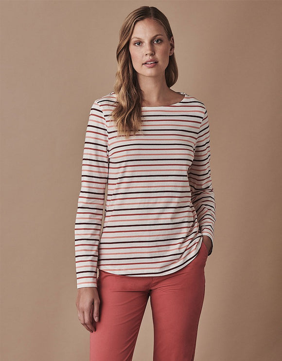 Crew Clothing Long Sleeve Essential Breton Top