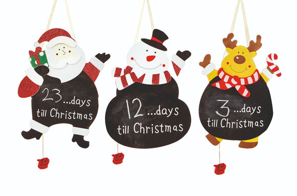Premier Days To Xmas Black Board Assorted Designs 30cm