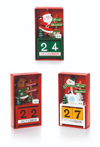 Premier Wooden Advent Calendar 15x8cm Assorted Designs