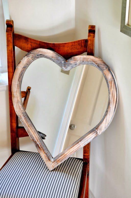 Honey & Wild Heart Shaped Mirror 34x38cm