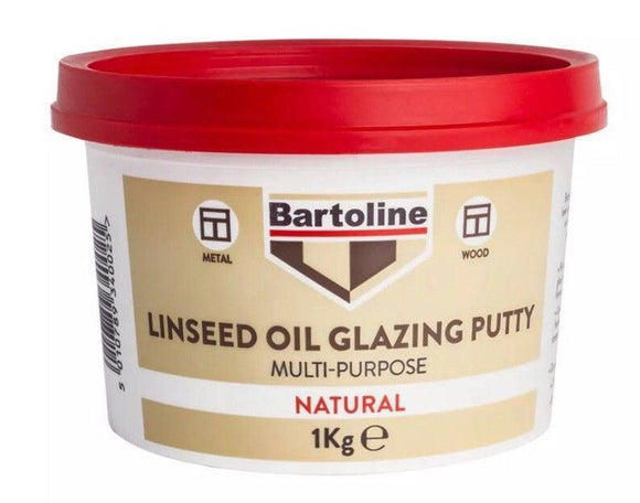 Bartoline Linseed Oil Glazing Putty Multi-Purpose Natural 1Kg