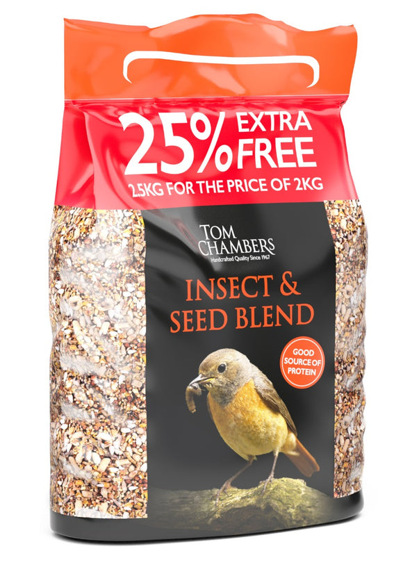 Tom Chambers Insect & Seed Blend 2kg + 25%