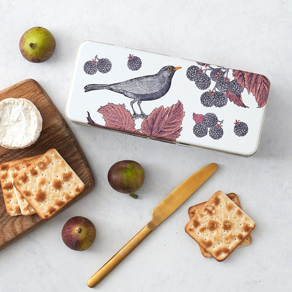 Thornback & Peel Blackbird & Bramble Long Rectangle Tin