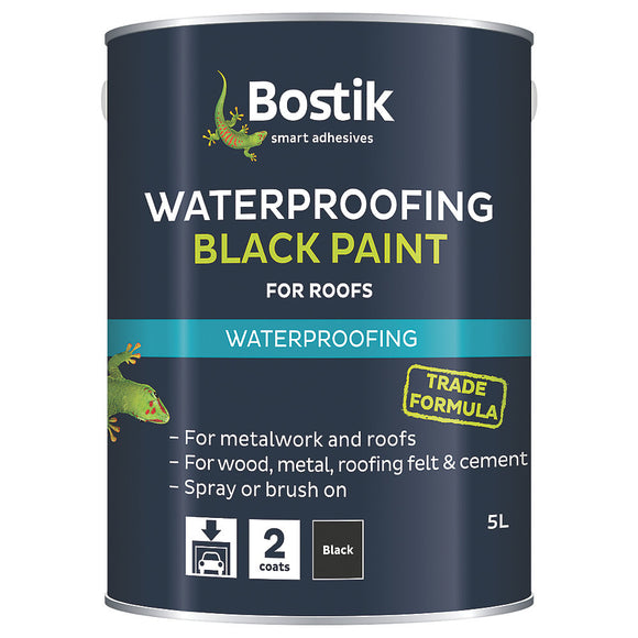Bostik Bitumen Paint Black 5L
