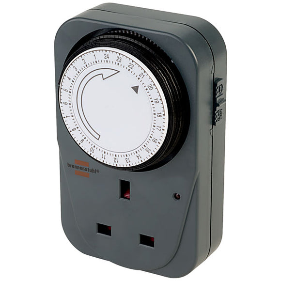 Brennenstuhl MZ20 24 Hour Plug In Timer Grey