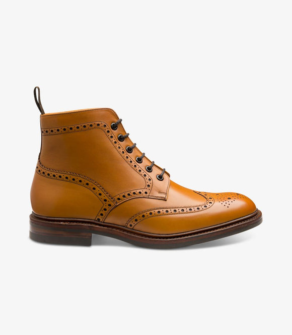 Loake Mens Brogue Boots | Burford Tan
