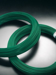 Green PVC Coated Chainlink Line Wire 76m