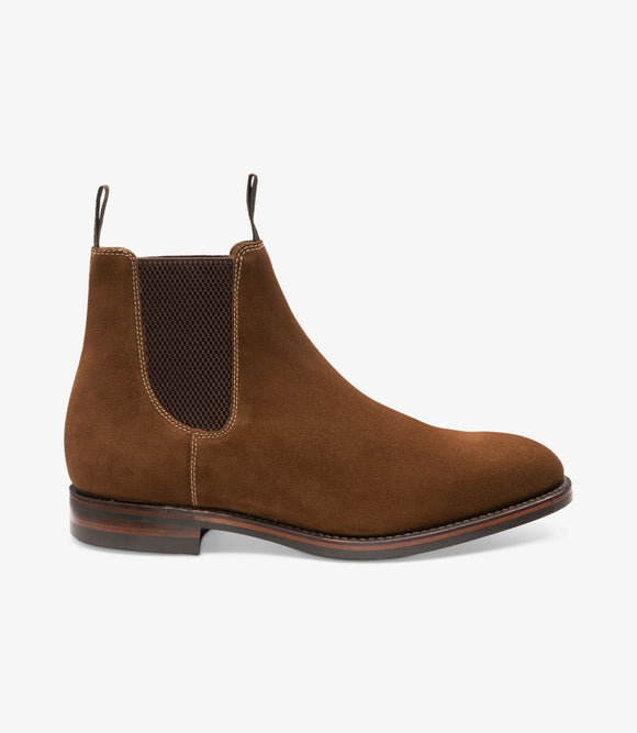Loake Mens Chelsea Boots | Chatsworth Brown Suede