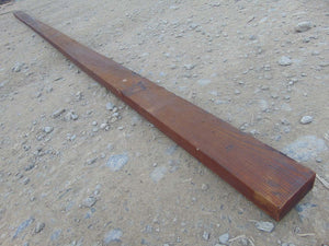 "Wooden Fence Rail Creosoted 11' 10"" x 4"" x 1.5"""