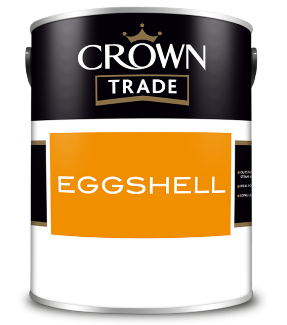 Crown Trade Eggshell White Paint 2.5L