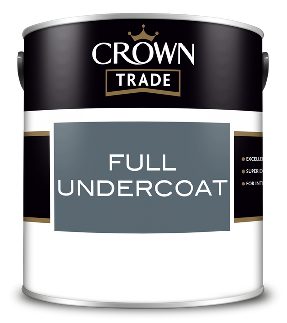 Crown Trade Full Undercoat Paint White 1L