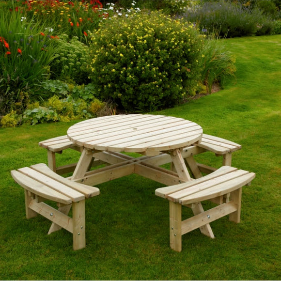 Woodshaw Appleton Round Picnic Bench