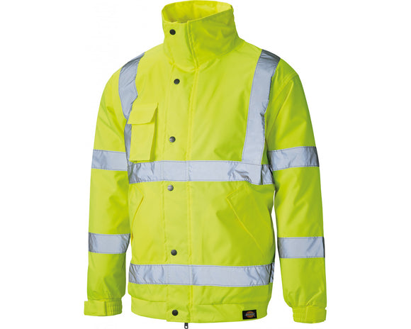Dickies High Visibility Bomber Jacket Fluorescent Yellow