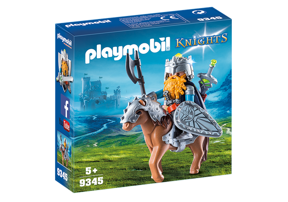 Playmobil Knights Dwarf Fighter with Pony 9345