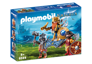 Playmobil Knights Dwarf King with Guards 9344