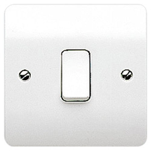 MK Electric Flush Plate Switch 1 Gang 1 Way 10A SP