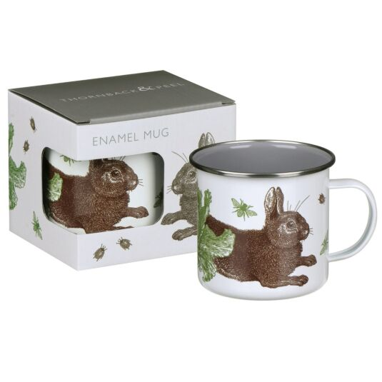 Thornback & Peel Rabbit & Cabbage Enamel Mug