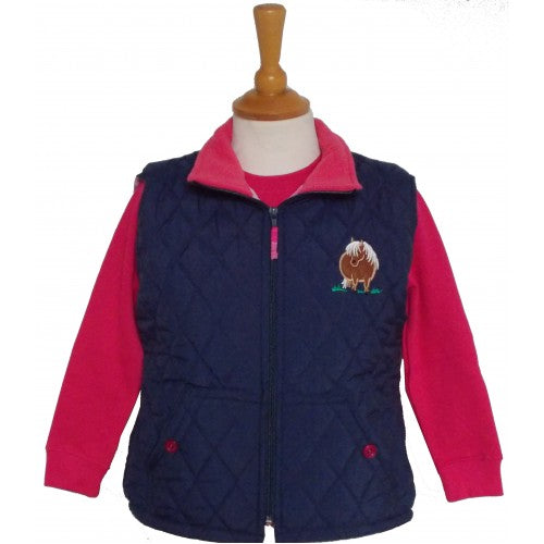 British Country Collection Fat Ponies Quilted Gilet