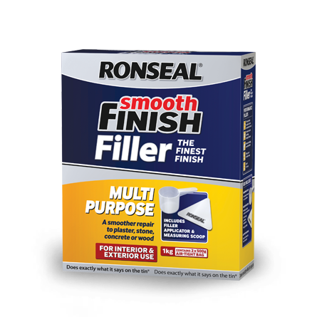Ronseal Multi Purpose Powder Smooth Finish Filler 500g + 50%