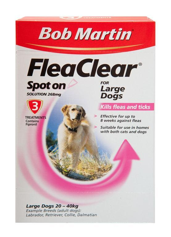 Bob Martin FleaClear Spot On Solution for Large Dogs 268mg