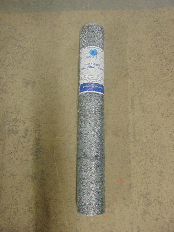 Galvanised Wire Netting 1050mm x 31mm 18g 50m