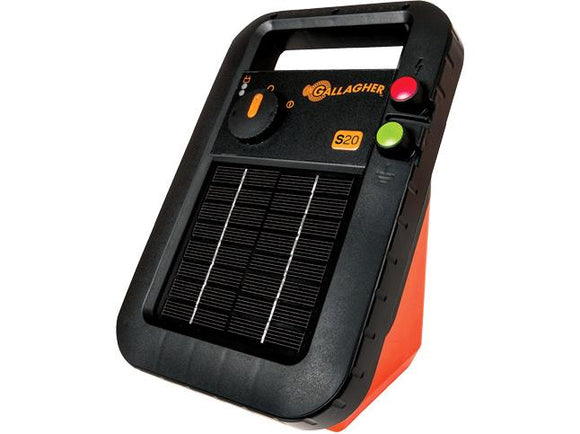 Gallagher S20 Solar Energiser Battery & Solar Mount Post