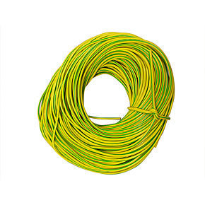 Superlec 3mm Green & Yellow PVC Sleeving - Sold Per Metre