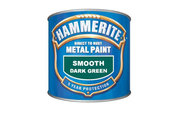 Hammerite Direct To Rust Metal Paint - Smooth Finish in Dark Green 750ML