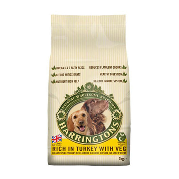 Harringtons Dog Food Turkey 2kg