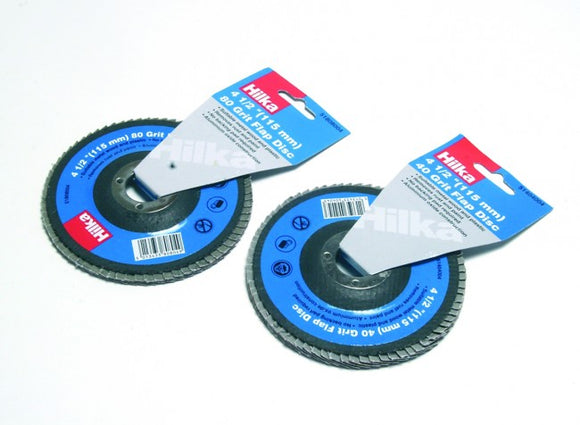 Hilka 4 1/2 Inch (115mm) Grit Flap Disc- 60g