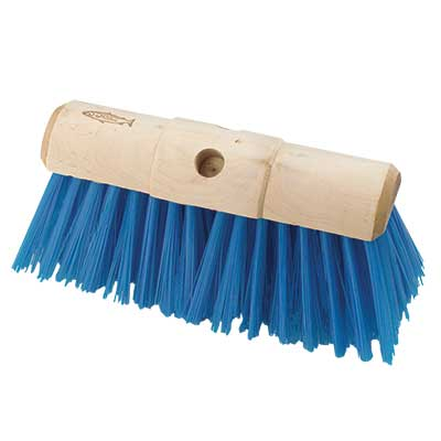 Hill Brush Industrial Stiff 330mm Yard Broom Blue