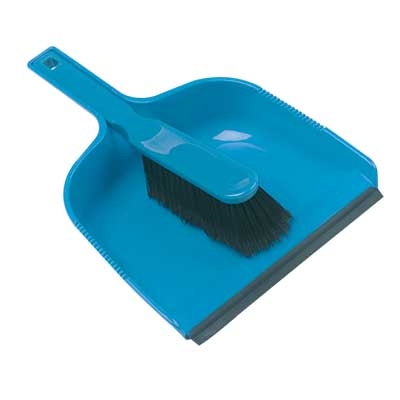 Hill Brush Plastic 320mm Dustpan & Soft Brush Set