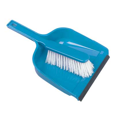 Hill Brush Plastic 330mm Dustpan & Stiff Brush Set