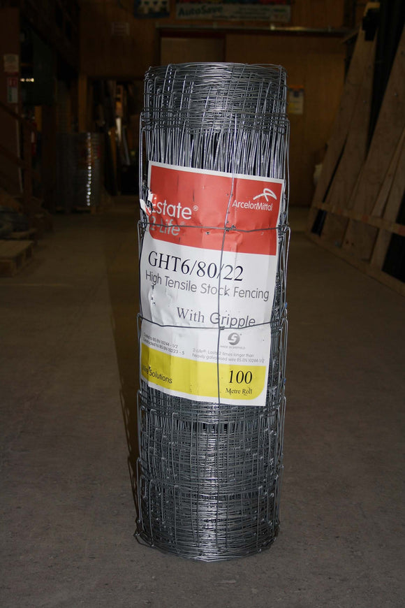 Estate Wire Game Friendly Wire Fencing HT6/80/22 100m