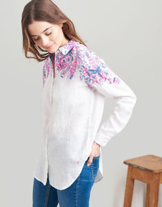 You added <b><u>Joules Jeanne Print Longline Linen Shirt</u></b> to your cart.