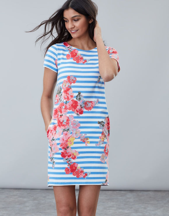 Joules Ottie Jersey Woven Mix Dress
