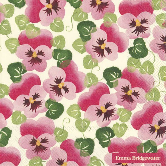 Emma Bridgewater Pink Pansy Lunch Napkins