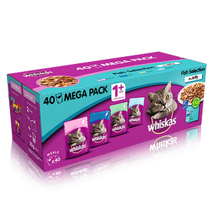 You added <b><u>Whiskas Fish Selection in Jelly Wet Adult Cat Food Pouches x 40</u></b> to your cart.