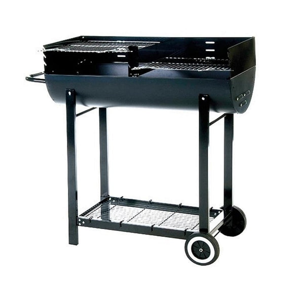 Lifestyle Half Barrel Drum Charcoal BBQ