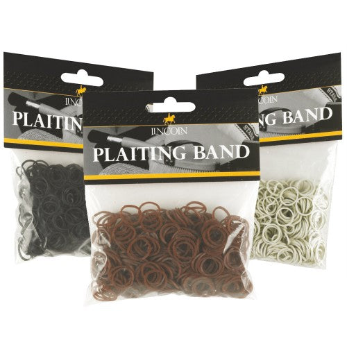 Lincoln Plaiting Bands Black