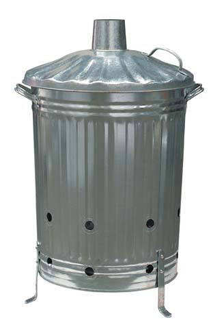 Galvanised Dustbin Incinerator 18 Inch