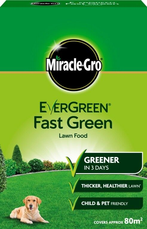 Miracle-Gro Evergreen Fast Green Lawn Food Carton 2.8kg